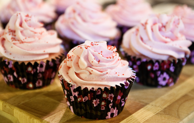Pink Lemonade Cupcakes with Buttercream Frosting