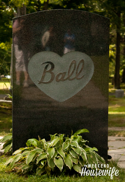 The Weekend Housewife - Lucille Ball Cemetary - Jamestown, NY