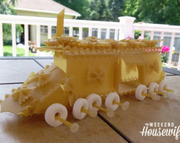 The Weekend Housewife - PBS The Design Squad - Pasta Car Challenge